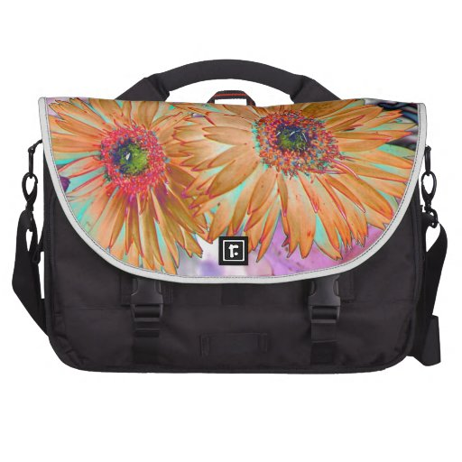 Neon floral print laptop bag