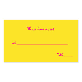 Neon Floral Wedding Place or Escort Cards Business Cards
