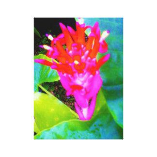 Neon Flower Canvas Print
