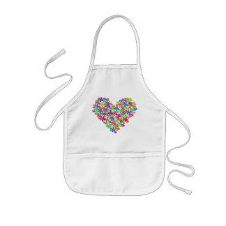 Neon Flower Heart Kids' Apron