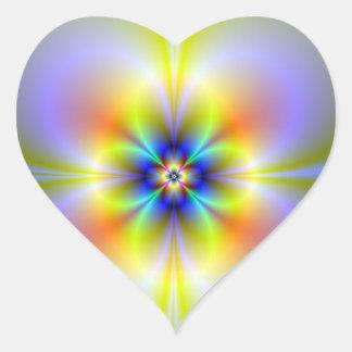 Neon Flower Heart Sticker