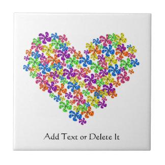 Neon Flower Heart Tiles