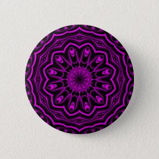 Neon Flower Kaleidoscope Button