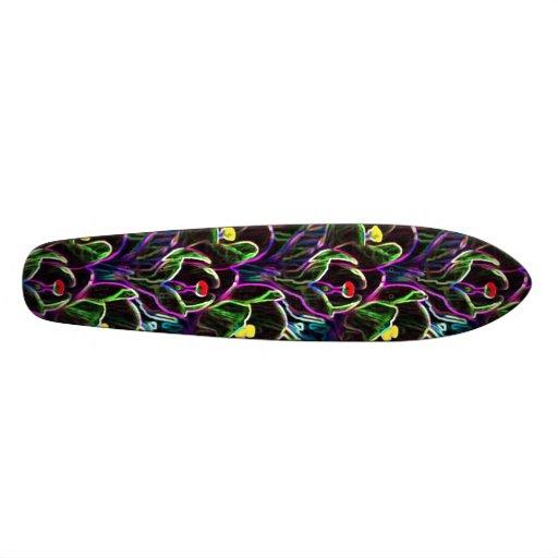 Neon flower skateboard