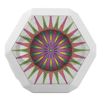 Neon flower white bluetooth speaker
