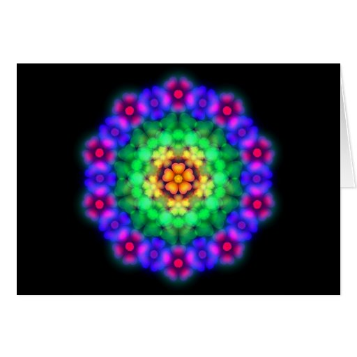 Neon Flowerbed Greeting Card