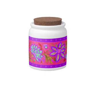 NEON FLOWERS CANDY JARS