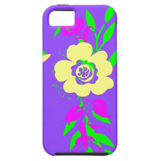 Neon Flowers Purple iPhone SE/5/5s Case