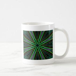 Neon Fluorescent Green Lavender Star Burst Coffee Mug