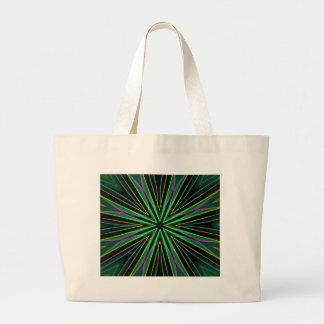 Neon Fluorescent Green Lavender Star Burst Large Tote Bag