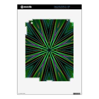 Neon Fluorescent Green Lavender Star Burst Skins For The iPad 2