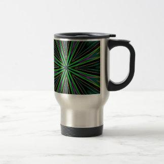 Neon Fluorescent Green Lavender Star Burst Travel Mug