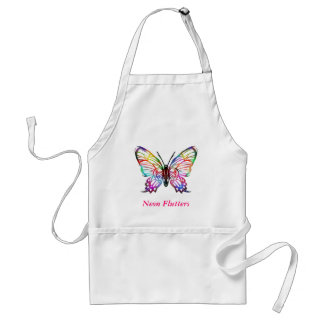 Neon Flutters - Adult Apron (kid Size Available)