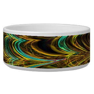 Neon Fractal 5 Pet Bowl