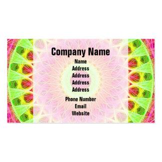 Neon Fractal Hippie Art Business Card