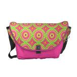 Neon Fractal Hippie Art Courier Bags