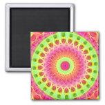 Neon Fractal Hippie Art Fridge Magnets