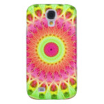 Neon Fractal Hippie Art Samsung Galaxy S4 Covers