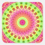 Neon Fractal Hippie Art Sticker