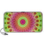 Neon Fractal Hippie Art Travelling Speaker