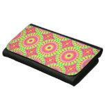 Neon Fractal Hippie Art Wallets For Women