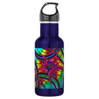 Neon Fractal 18oz Water Bottle