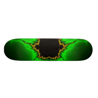 neon fractal skateboard