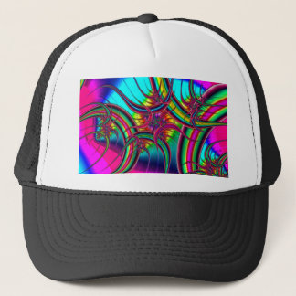 Neon Fractal Trucker Hat