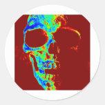 Neon Freddy Round Sticker