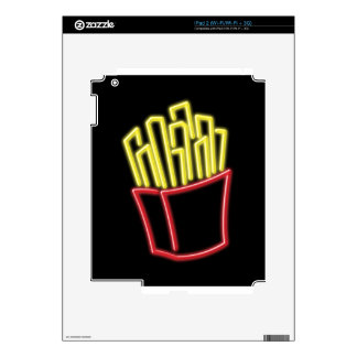 Neon French Fries Skin For iPad 2