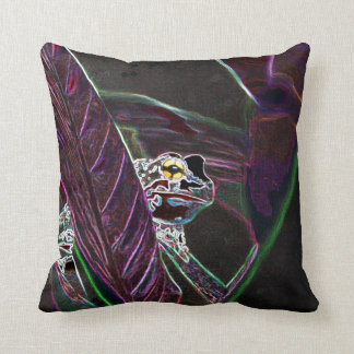 Neon Froggy Pillow