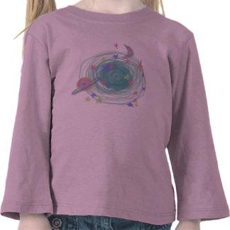 Neon Galaxy T-shirts