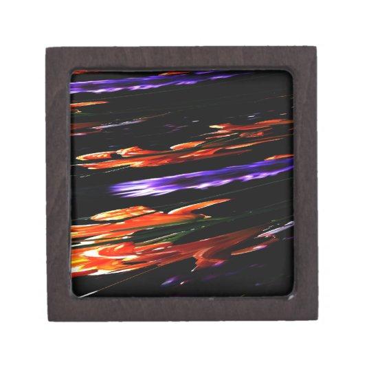 Neon Garden Abstract Gift Box