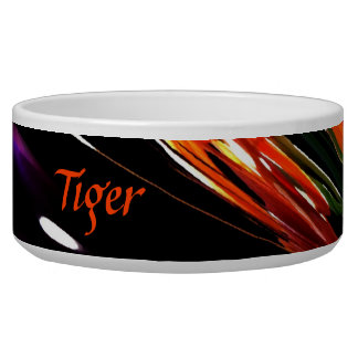 Neon Garden Abstract Personalized Bowl