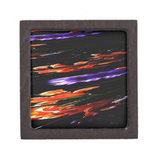 Neon Garden Abstract Premium Trinket Box