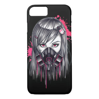 Neon Gas Mask Girl iPhone 7 Case