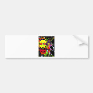 Neon gas mask painting series bumper sticker
