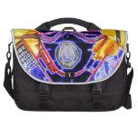neon Gas Masked Soldier v2 Bag For Laptop