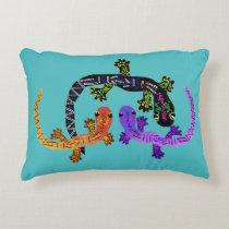 Neon Gecko Accent Pillow
