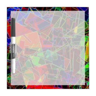 Neon Geometric Fractal Dry-Erase Board