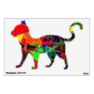 Neon Geometric Fractal Wall Graphics