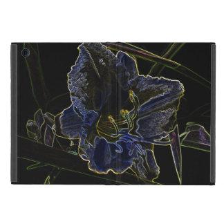 Neon Glow Daylily Flower Case For iPad Mini