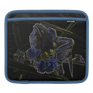 Neon Glow Daylily Flower iPad Sleeves
