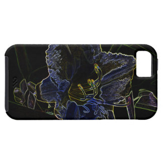 Neon Glow Daylily Flower iPhone SE/5/5s Case