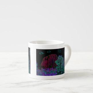 Neon Glow Devils Tower Espresso Cup