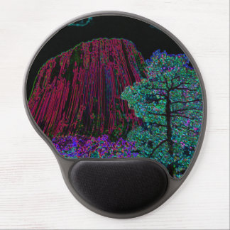 Neon Glow Devils Tower Gel Mouse Pad