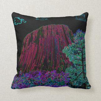 Neon Glow Devils Tower Pillow