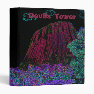 Neon Glow: Devils Tower with Glowing Edges Binder