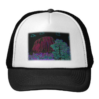 Neon Glow Devils Tower with Glowing Edges Hat
