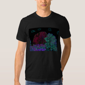 Neon Glow: Devils Tower with Glowing Edges Shirt